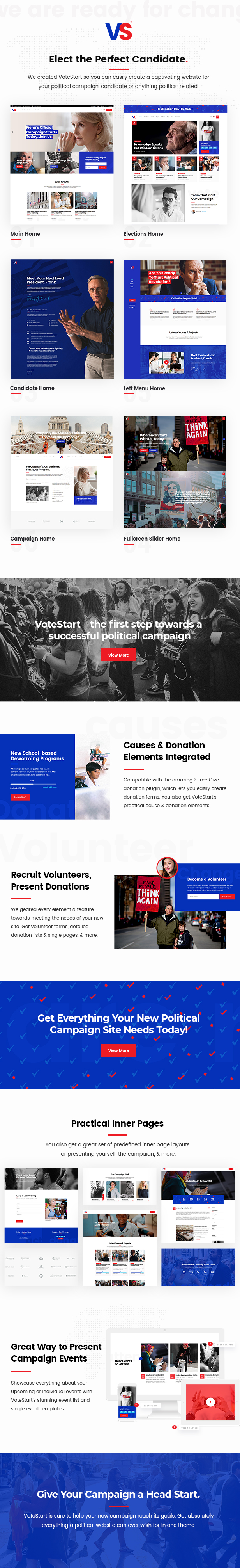 VoteStart - Political Campaign Theme - 1